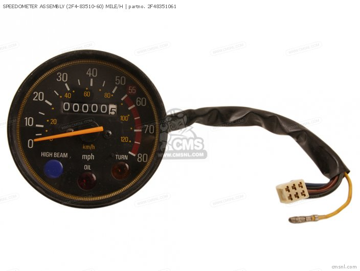 SPEEDOMETER ASSEMBLY (2F4-83510-60) MILE/H