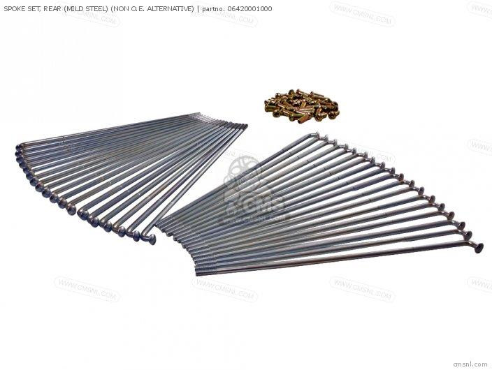 Spoke Set, Rear (mild Steel) (non O.e. Alternative) photo
