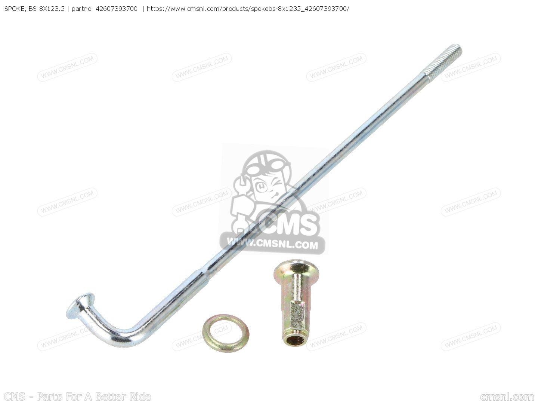 spoke  bs 8x123 5  fits gl1000 goldwing 1975 k0 usa