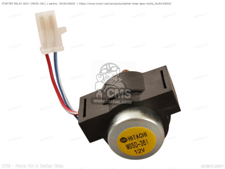 3sx8194000 Starter Relay Assy Ms5d 361 Yamaha Buy The 3sx 81940 Hitachi Wiring Photo
