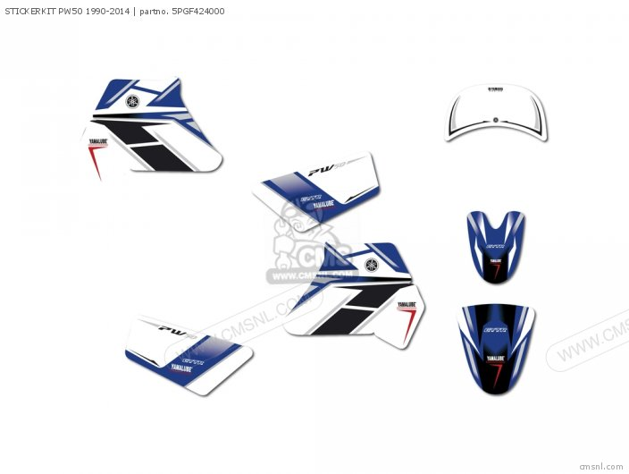 STICKERKIT PW50 1990-2014