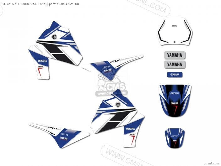 STICKERKIT PW80 1996-2014