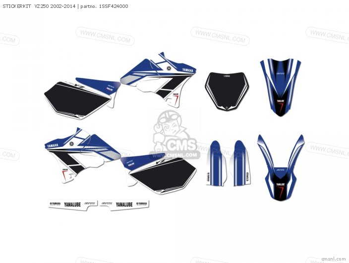 STICKERKIT  YZ250 2002-2014