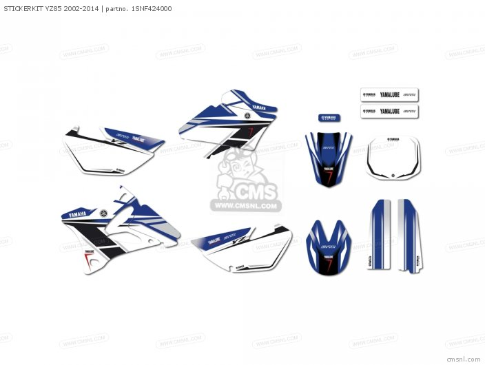 STICKERKIT YZ85 2002-2014