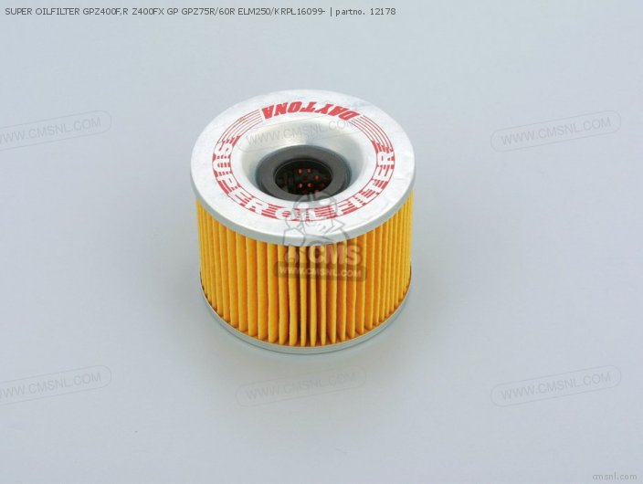 SUPER OILFILTER GPZ400F R Z400FX GP GPZ75R 60R ELM250 KRPL16099-