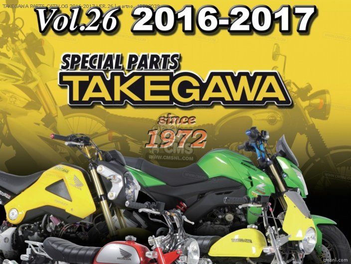 Takegawa Parts Catalog 2016-2017 Ver.26 photo