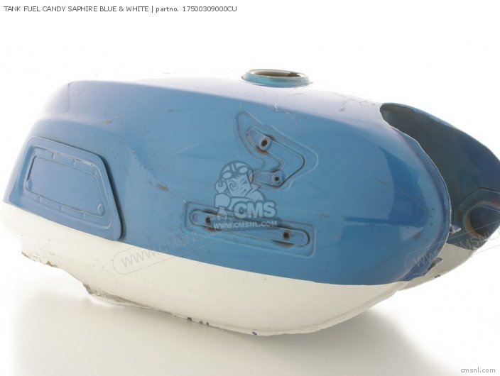 TANK FUEL CANDY SAPHIRE BLUE & WHITE