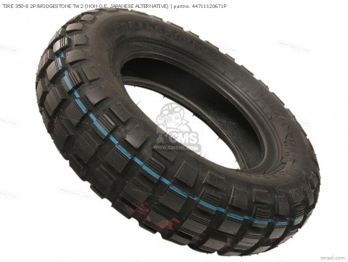 Tire 350-8 2p Bridgestone Tw2 (non O.e. Japanese Alternative) photo
