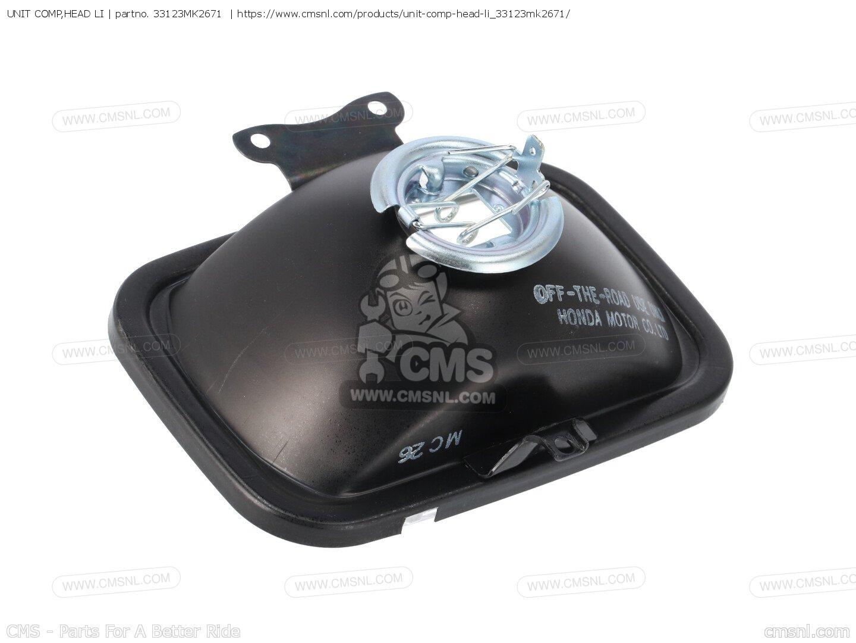 HONDA 33123-MK2-671 HEADLIGHT