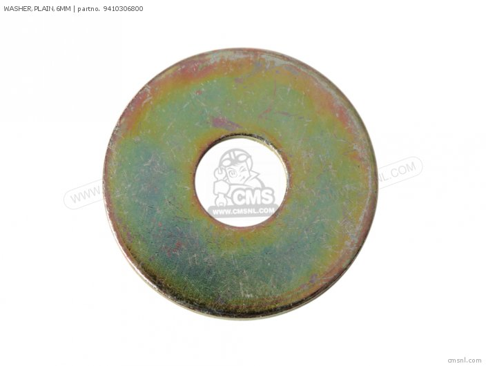 WASHER PLAIN 6MM