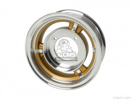WHEEL 8 INCH 2.75F 2.75R TUBELESS (GOLD)
