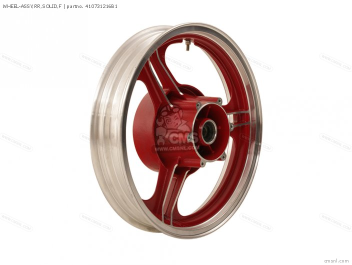 1985 ZX750-E2 GPz 750 Turbo WHEEL ASSEMBLY REAR SOLID FIRECRACKER RED