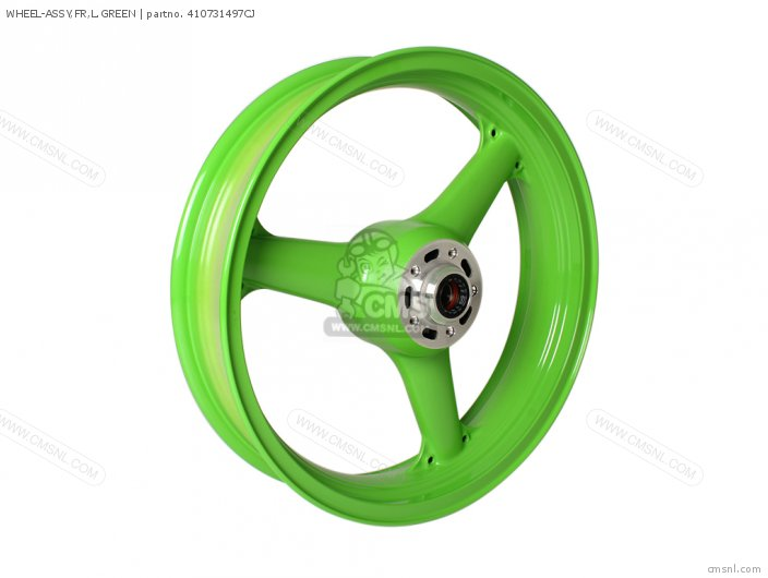 1996 F2  ZX600 WHEEL-ASSY FR L GREEN