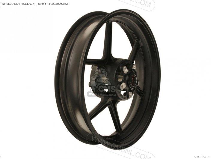 Wheel-assy, Fr, Black photo