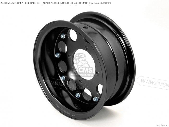 Wide Aluminum Wheel Half Set (black Andized/8 Inch/3.5j) For Mon photo