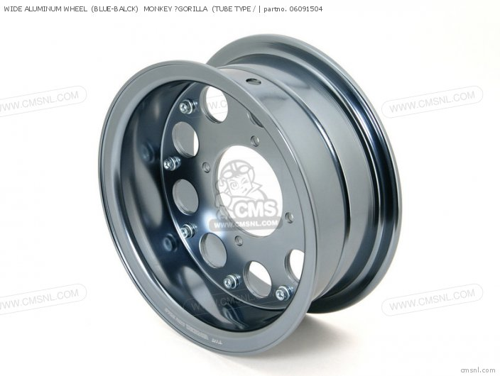 Wide Aluminum Wheel  (blue-balck)  Monkey ?gorilla  (tube Type / photo