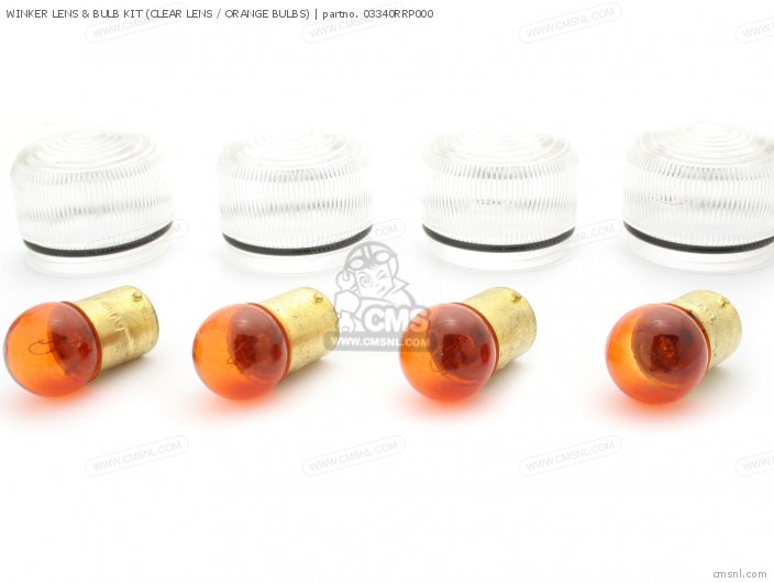 Rising Sun Tuning Parts And Custom Parts Winker Lens  Bulb Kit clear Lens   Orange Bulbs