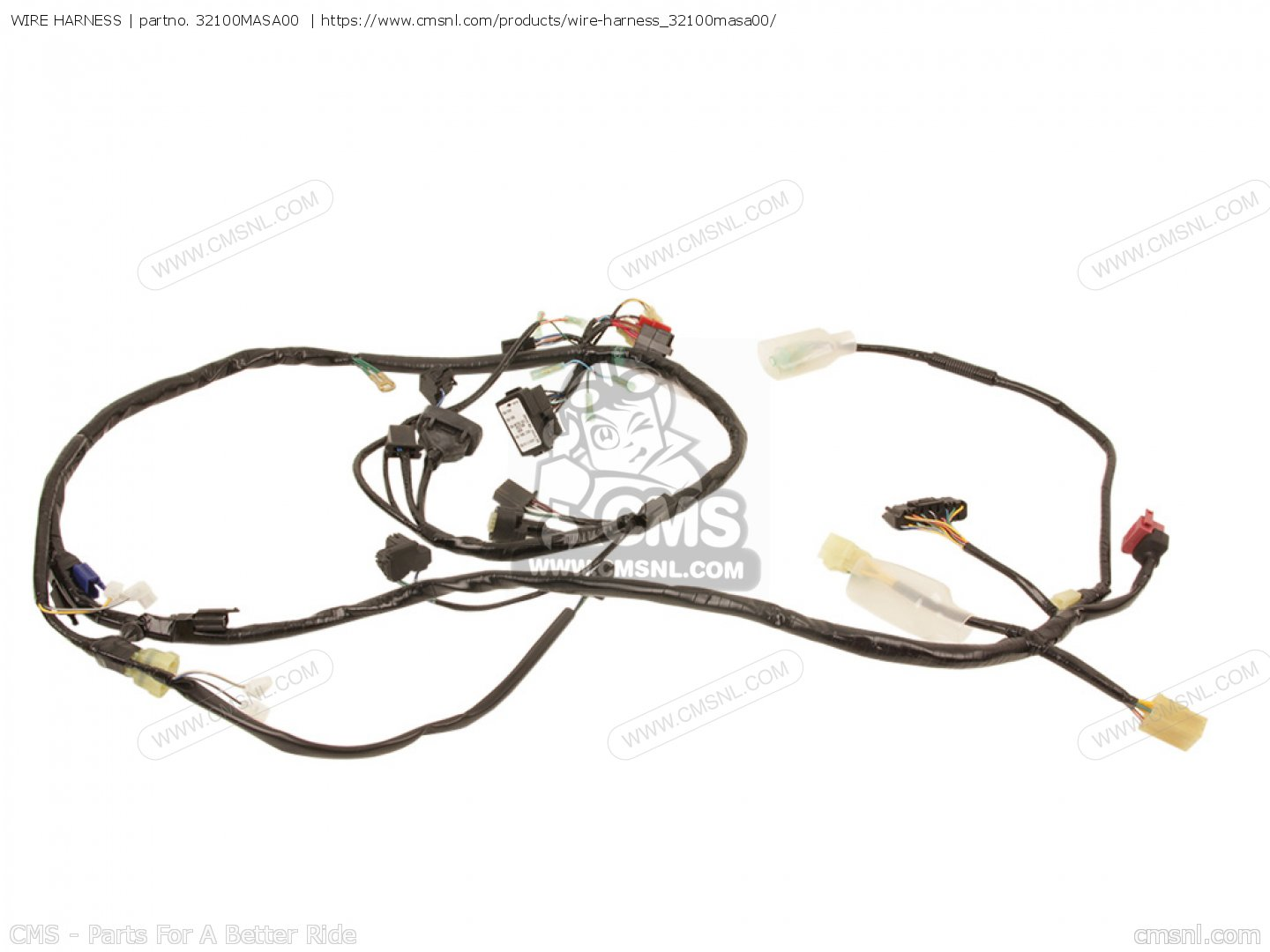 32100masa00 Wire Harness Honda Buy The 32100 Mas A00 At Cmsnl Phillips Ballast Wiring Diagram Single Phase 208