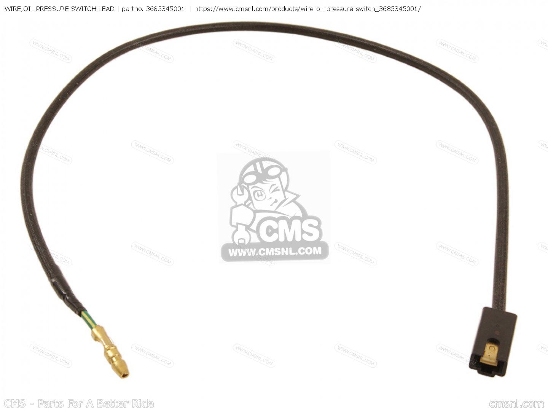3685345001: Wire,oil Pressure Switch Lead Suzuki - buy the 36853 ...