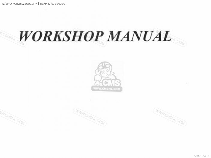 Shop Manuals W shop Cb250 360copy