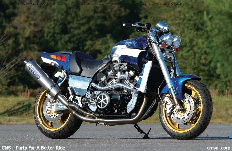 Yamaha V Max1200 Full Titan Muffler Single Exhaust