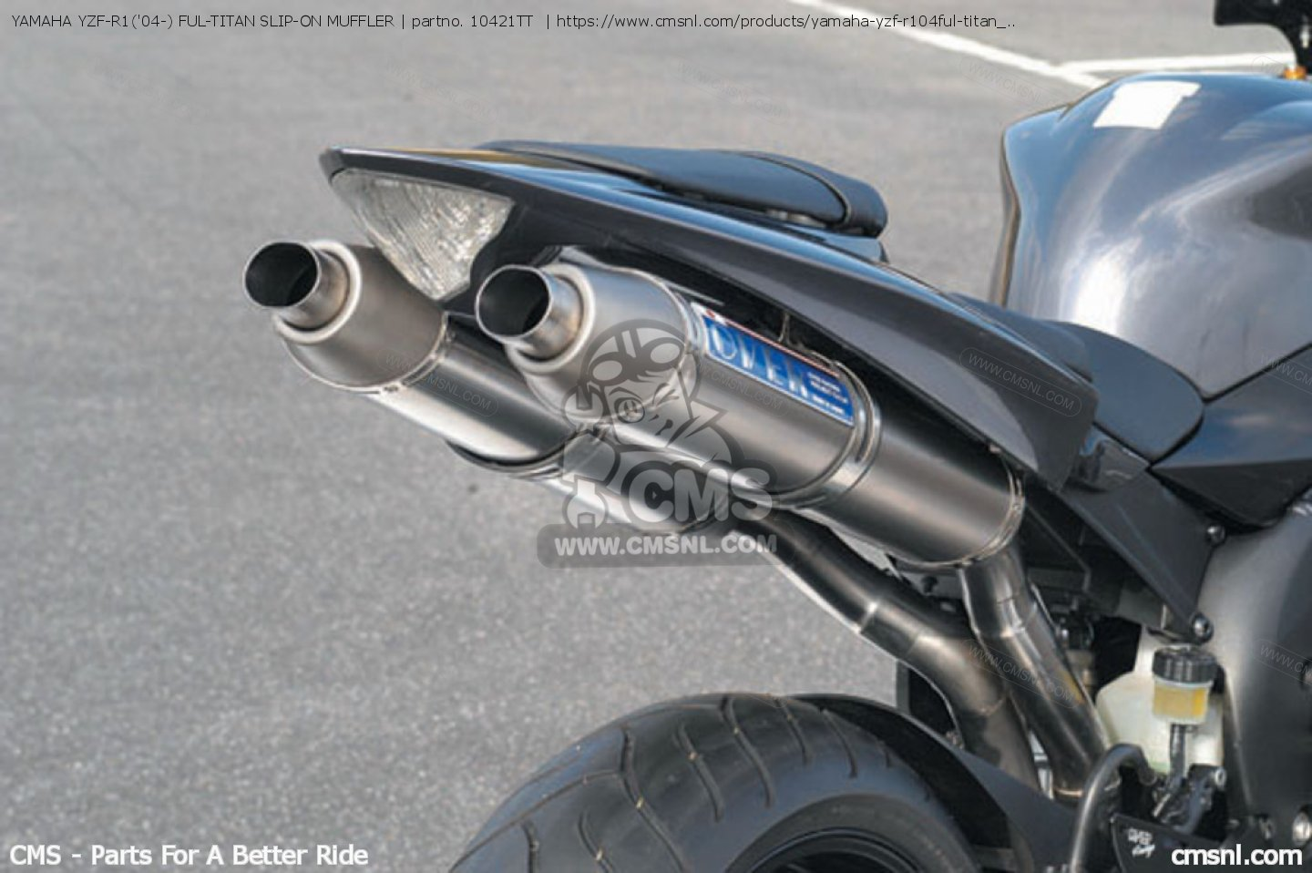 ... small image of YAMAHA YZF-R104- FUL-TITAN SLIP-ON MUFFLER