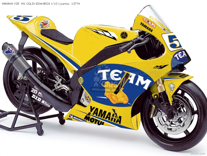 YAMAHA YZR  M1 COLIN EDWARDS 1/10