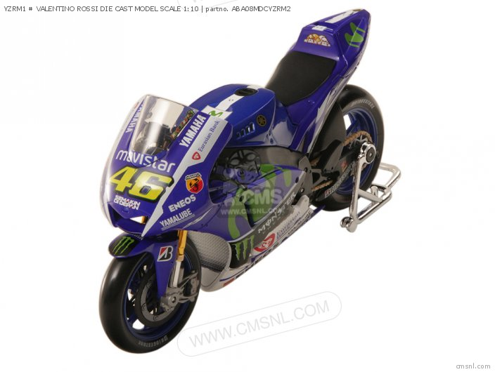 Yzrm1 # Valentino Rossi Die Cast Model Scale 1:10 photo