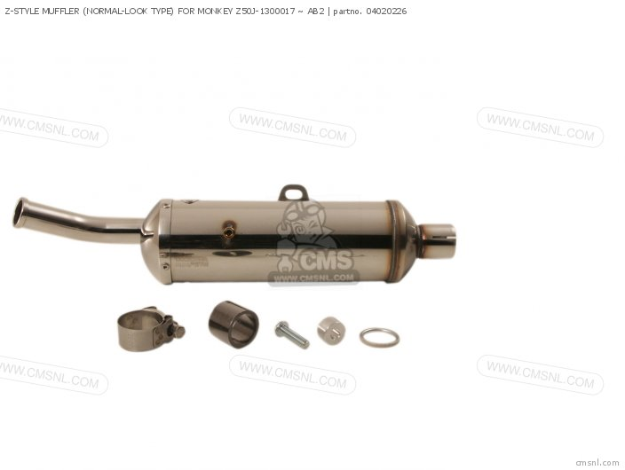 Z-style Muffler (normal-look Type) For Monkey Z50j-1300017 ~ Ab2 photo