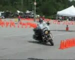 Police Motorcycle Competition Good Solo Run