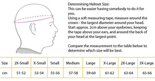 Adult Helmet Sizing Guide