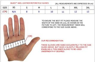 Motorcycle Gloves Size Guide